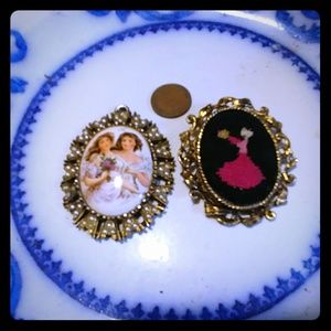 Vintage Pendant and Pin